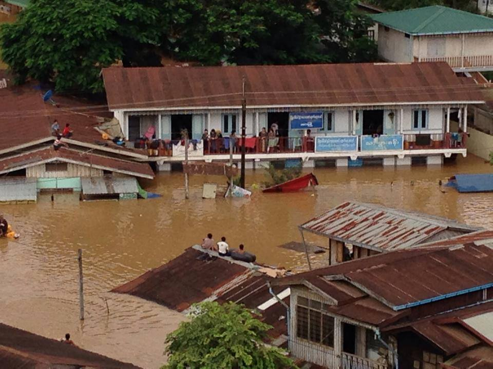 Every monsoon season, Kachin State's Hpakant sees devastating floods from the Uru River (PHOTO: Lachid Kachin)