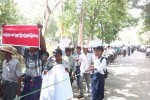 About 1,500 farmers protested against the arrest of land rights activists in central Burma on 13 August 2014. (PHOTO: DVB)