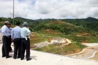 Early stages of the Upper Paunglaung Dam near Naypyidaw (PHOTO: DVB).