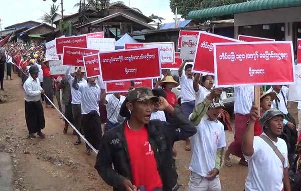 A protest rally against mining in Mandalay, Burma. (PHOTO:DVB)