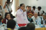 NCCT negotiator Nai Hongsa addresses delegates in Rangoon on Saturday, 27 September 2014. (PHOTO: MPC)
