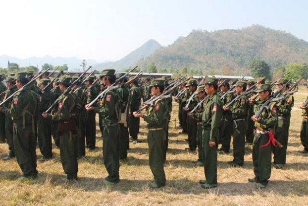File photo of SSA-N soldiers (PHOTO:DVB)