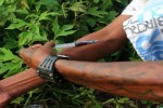 An addict injects heroin, one of several drugs that Burma is a leading producer of. (Photo: DVB)