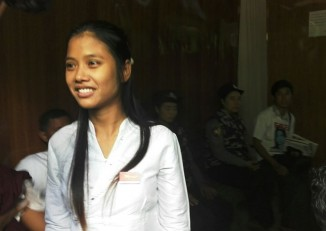Phyu Hnin Htwe was released on Wednesday after Wanbao dropped all charges against her   (PHOTO: DVB)