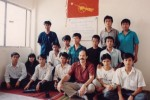 A photograph from DVB's first field reporting training held in 1992 (PHOTO:DVB)