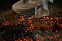 Walking on fire, Ashura festival, Rangoon, 3 October 2014. (PHOTO: Niels Huby)