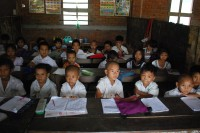 Sloppy infrastructure of school buildings, inadequate fundings , an outdated curriculum and government control over syllabus, are some of the barricades that obstruct quality education in Burma (PHOTO: Feliz Solomon/DVB)