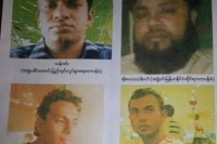 Picture of wanted poster for four RSO members circulated last week. (PHOTO: DVB)