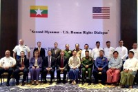 US delegation meets with Burmese officials in Nyapyidaw to discuss human rights on Wednesday (Photo: US embassy, Rangoon)