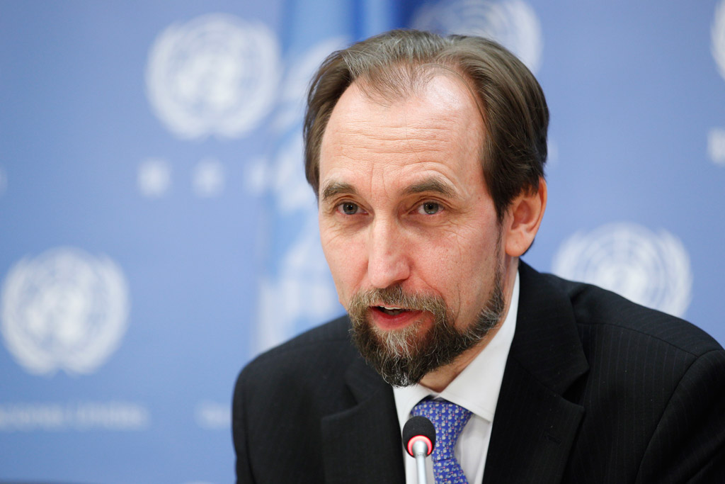 """UN human rights chief Zeid Ra'ad al Hussein said on 16 December 2016 that the government had taken a """"short-sighted, counterproductive, even callous"""" approach to the crisis in Arakan State, risking grave long-term repercussions for the region. (Photo: UN)"""