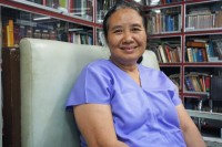 Founder of Mae Tao Clinic, Dr Cynthia Muang. (Photo: Wenying Seah/DVB)