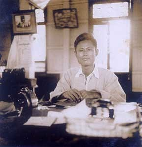 "1935 – Elected to the Executive Committee of the Rangoon University Students Union and became editor of the Students' Union Magazine ""O-wei"""