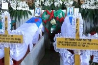 The funeral of the schoolteachers, brutally murdered in northern Shan State, held in Myitkyina in January (Photo: DVB)