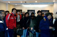 Burmese crew members of rescued from the Dalny Vostok arrive in Yuzhro Sakhalinsk in southern Russia (Photo: Facebook/ Myanmar Embassy, Moscow)