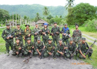 A file photo of an Arakan Army unit from the group's Facebook page.