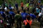 The exhumation team at the mass grave in Songkhla, southern Thailand.  (Photo: Reuters)
