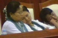 MPs appear to be fast asleep during a parliamentary session. (DVB)
