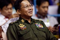 File photo of Burma's Commander-in-Chief Snr. Gen Min Aung Hlaing (PHOTO: DVB)