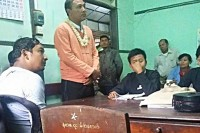 Teacher Wai Yan Aung who was sentenced to three months imprisonment at Pathein township court on Friday 22 May (Photo: DVB)