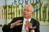 Malaysian Prime Minister Najib Razak, pictured addressing the Annual Meeting 2013 of the World Economic Forum in Davos, Switzerland, on January 25, 2013. (Photo: Wikicommons)