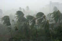 Cyclone Nargis makes landfall, 3 May 2008 (PHOTO: Mohd Nor Azmil Abdul Rahman/wikicommons)