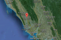 Rathedaung in Arakan State, marked with a red pin. (Image: Google Maps)