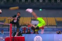 SEA Games 2015: Action from the Burma-Thailand sepak takraw final on 12 June 2015.