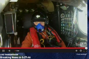 Andre Borschberg in the cockpit on the morning of 29 June 2015.