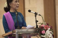 File photo of Suu Kyi. (PHOTO: DVB).