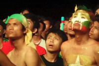Burmese football fans suffer the agony of defeat at the SEA Games 2015. (PHOTO: DVB)
