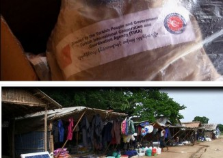Burmese state media cites sources saying relief supplies are  'abundant' in Arakan's IDP camps and that much aid is resold at roadside stalls.