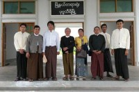 Myanmar Herald editors and staff arrive at court in Naypyidaw on 21 July 2015. (PHOTO supplied to DVB)