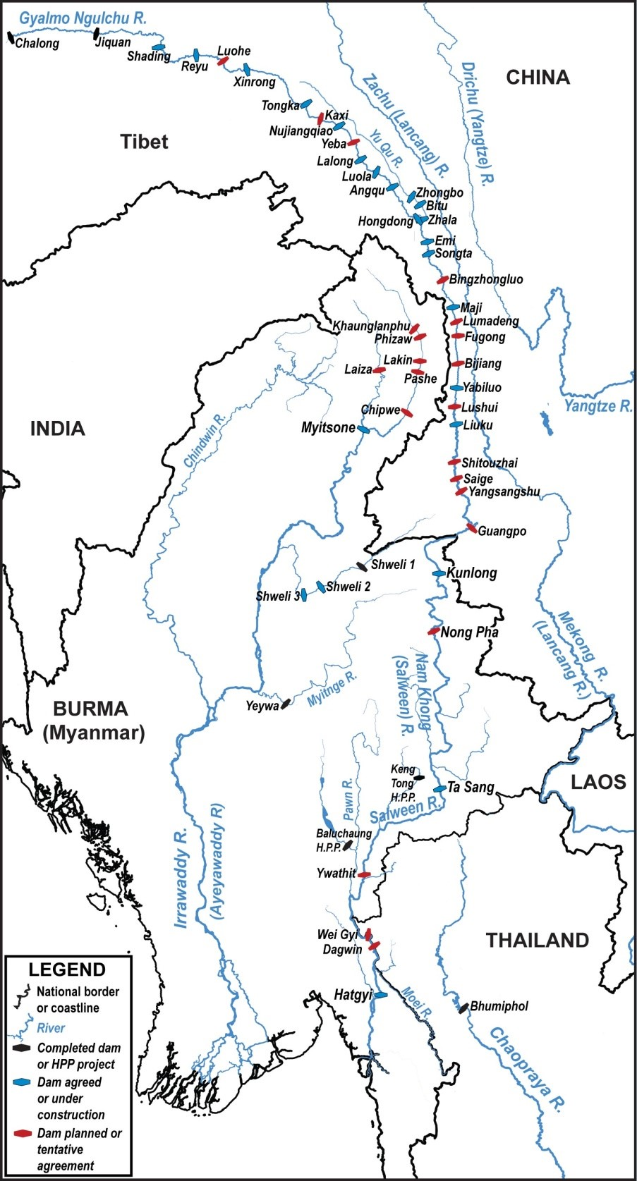 Reward And Ruin On The Salween River - Total number of rivers in the world