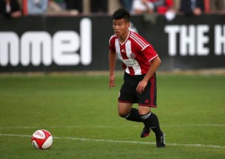 Kler Heh in action for Sheffield United FC. (PHOTO: Myanmar football Federation)