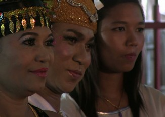 Performers pose at Mandalay's famous Nat festival, which is embraced by Burma's LGBT community.