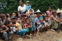 File photo of children from Bago Division.  (PHOTO:DVB)