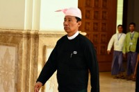 Burma's House Speaker Shwe Mann, pictured at parliament on 20 August 2015. (PHOTO: DVB)