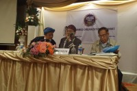 Representatives of ethnic armed groups appear at a meeting in Chiang Mai, 29 September 2015.