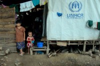 A UNHCR-supported camp for internally displaced people near Myitkyina, the capital of Kachin State. (Photo: UNHCR/A.Kirchhof)