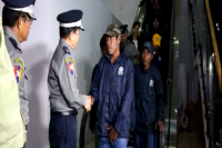 Burmese nationals forced to work on foreign fishing boats return to Rangoon on 6 September 2015 (Photo: DVB)