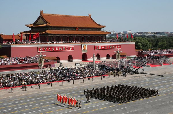 FILE PHOTO: Chinese People's Liberation Army soldiers march in formation past the Tiananmen Gate during a military parade to mark the 70th anniversary of the end of World War II, in Beijing, China, 3 September 2015. (PHOTO: REUTERS)