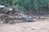 A home destroyed by the Delco Mining landslide in Kanbauk, Tenasserim Division (IMAGE: DVB)