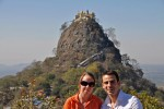 Wanderluster Samantha Hussey and friend at Mount Popa in Burma. (PHOTO: Samantha Hussey)