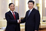 Chinese President Xi Jinping (R) meets with Shwe Mann, speaker of Burma's Union Parliament and House of Representatives, in Beijing, on 27 April, 2015. (PHOTO: Xinhua)