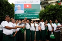 USDP campaign kicked off in Mandalay, 8 September 2015. (PHOTO: DVB)