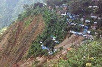 Mawchi in the aftermath of the landslide. (PHOTO: DVB)