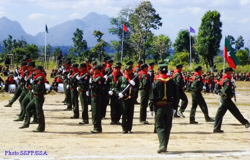 File photo of SSA troops, Shan State.