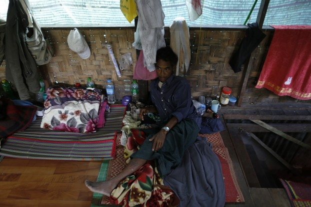 A patient rests at a HIV/AIDS clinic founded by NLD member Phyu Phyu Thin. (PHOTO: REUTERS)