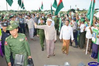 President Thein Sein on the campaign trail during Burma's national elections in November 2015. (Photo: President's Office)