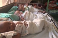 Infants at the Youth Development Garden home for abandoned children in Thawitthi, Naypyidaw. (PHOTO:DVB)